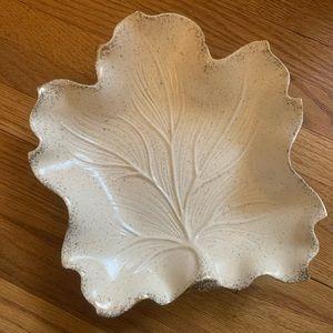 Vintage Mid Century Ceramic Leaf Dish